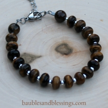 Tiger's Eye Bracelet with Sterling Spacers